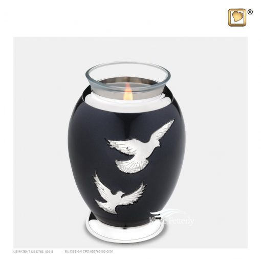 Tealight candle holder miniature urn
