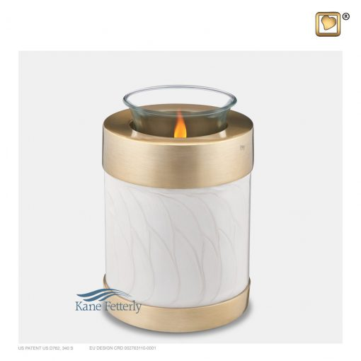 Pearl and gold tealight candle holder miniature urn