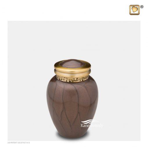 U8704K Urne miniatureen laiton brun