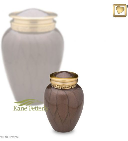 U8704K Brown miniature urn