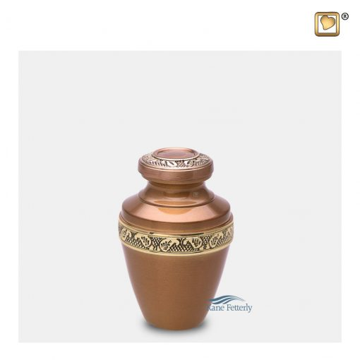 Miniature urn with gold floral band