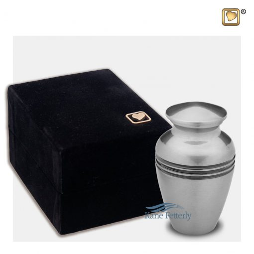Silver brass miniature urn