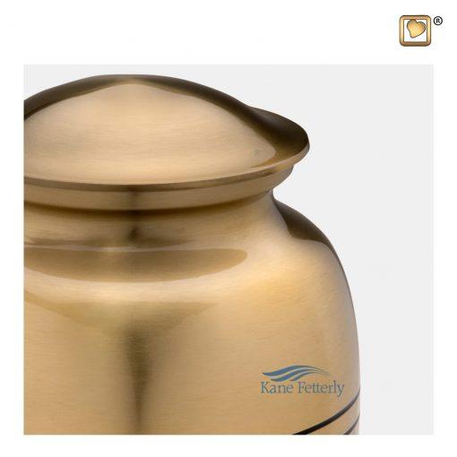 Gold brass urn
