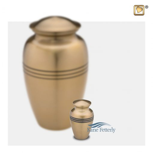 Gold miniature urn
