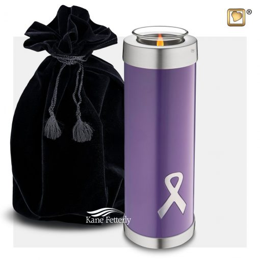 Tealight miniature urn with ribbons
