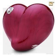 U8739 Red heart urn