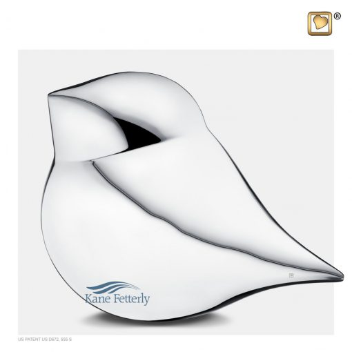 U8752 Urne en laiton en forme d'oiseau.