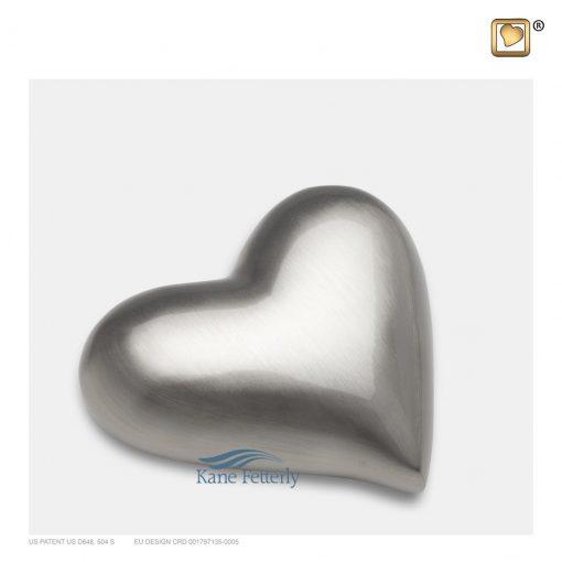 Brass heart miniature urn
