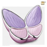 U8811 Pink and Lavender Butterfly urn