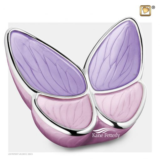 Pink and Lavender Butterfly urn