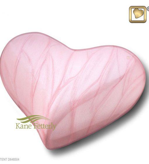 U8813H Urne miniature en forme de coeur en laiton rose