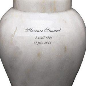 Sur l'urne