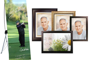 Framed Prints on Canvass and Memorial Banners